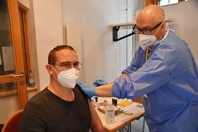Wie unser BZ-Mitarbeiter den Impftag in Rheinfelden erlebt hat
