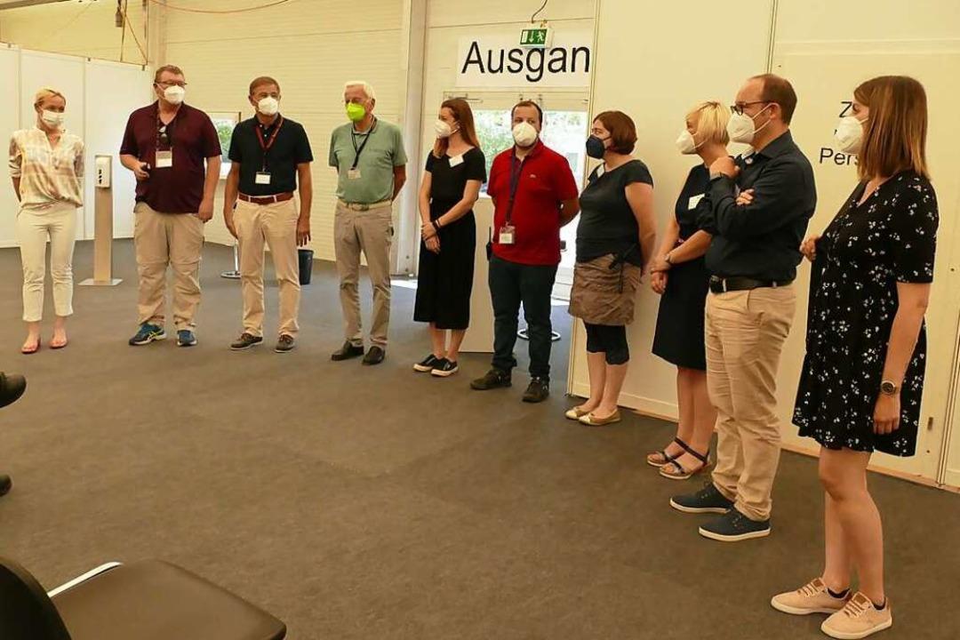 Mitarbeiter des KIZ haben die neuen Räume am Tag vor der Eröffnung vorgestellt.  | Foto: Stefan Mertlik