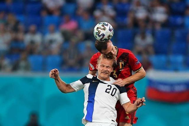 2:0 gegen Finnland – Favorit Belgien verhilft Dänemark ins Achtelfinale