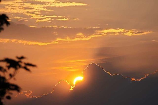 Nach dem Starkregen gab's noch einen tollen Sonnenuntergang