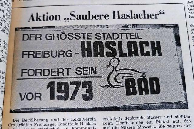 Die Forderung der Freiburg-Haslacher nach einem Schwimmbad war letztlich erfolgreich
