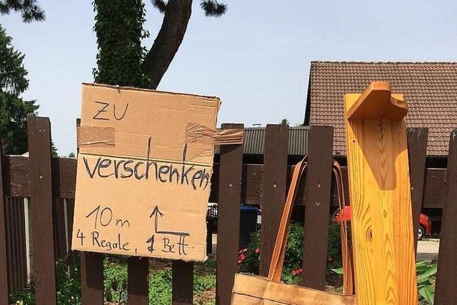Verschenkemarkt in Schallstadt unter freiem Himmel