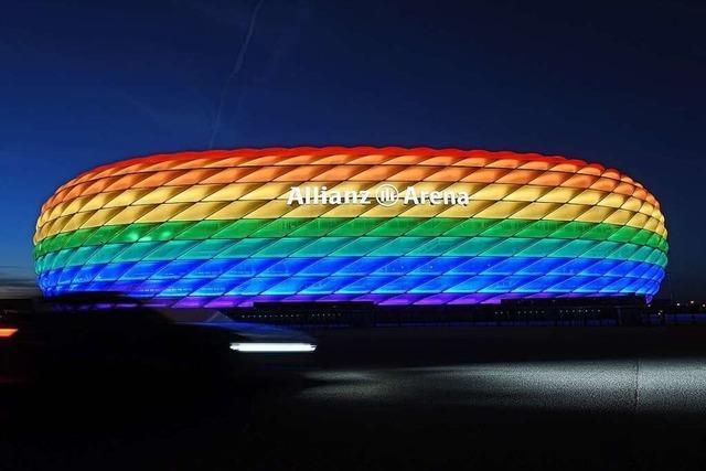 Verbot der Uefa: Münchner Arena darf nicht in Regenbogenfarben leuchten