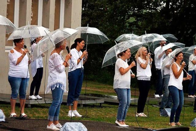 So war's beim Open-Air-Konzert der Gospelformation Golden Harps in Lahr