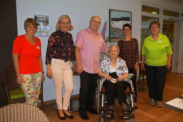 Walburga Sahner feiert ihren 101. Geburtstag in Rheinfelden