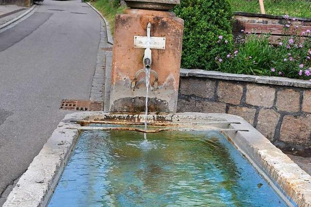 Badende Kinder beschädigen den Dorfbrunnen in Wittlingen