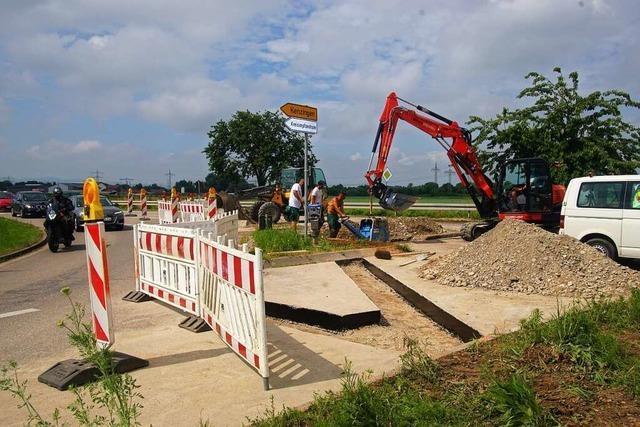 Auf den Baubeginn an der B 3 bei Kenzingen folgen prompt Klagen