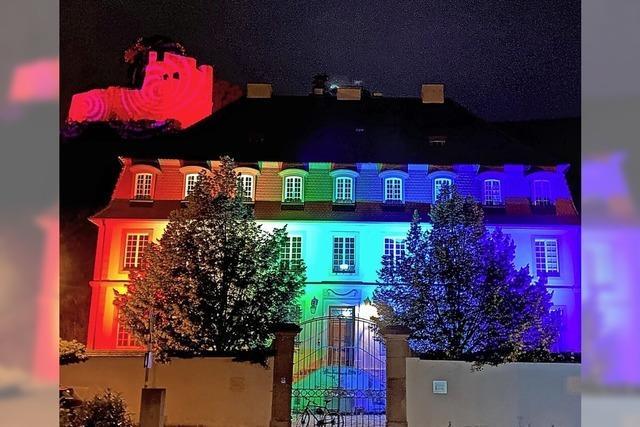 Night of Light auch in Regenbogenfarben
