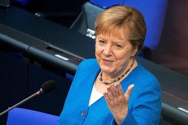 Angela Merkel zieht in letzter Regierungsbefragung selbstkritische Klimabilanz