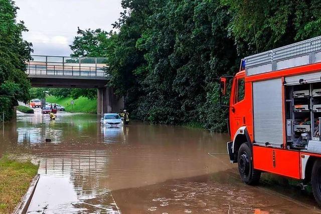 Feuerwehr durch Starkregen in 50 Einsätzen gefordert