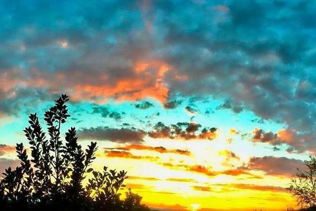 Sonnenuntergang bei Ebringen
