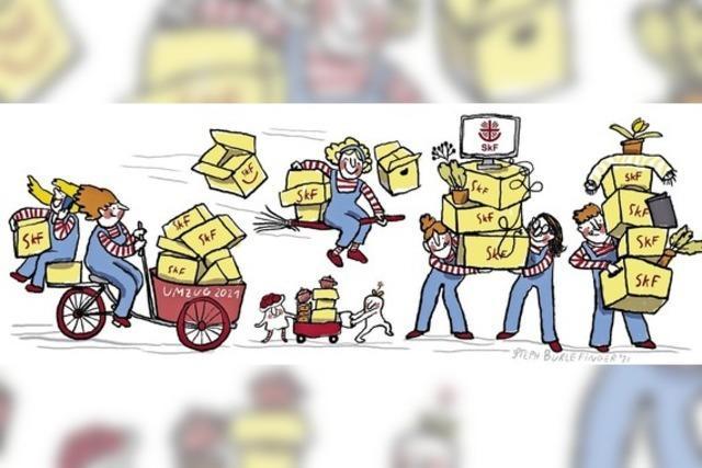 Sozialdienst packt die Sachen und zieht um