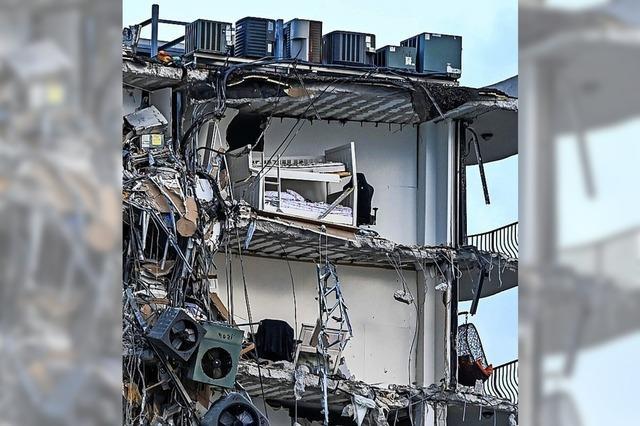 Mehrstöckiges Haus in Miami eingestürzt