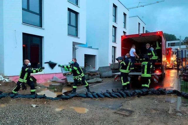 Feuerwehr stoppt Wassermassen im Waldkircher Gebiet