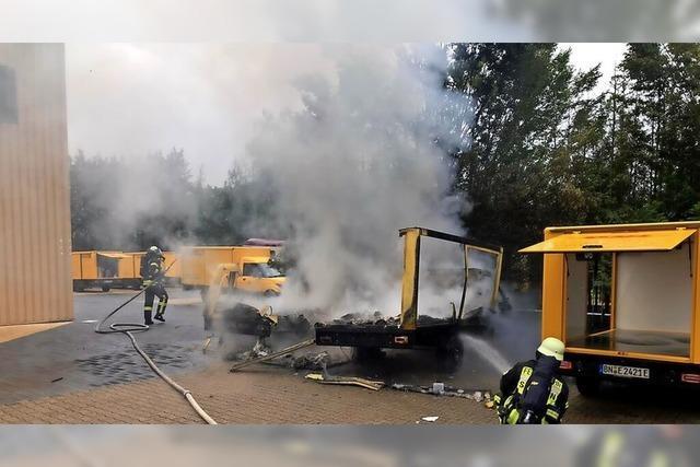 Elektroautos der Post brennen aus