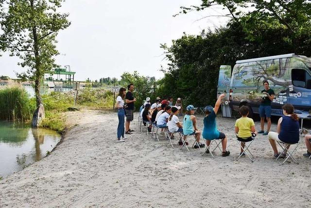 In Wyhl wurden Grundschüler am Baggersee unterrichtet