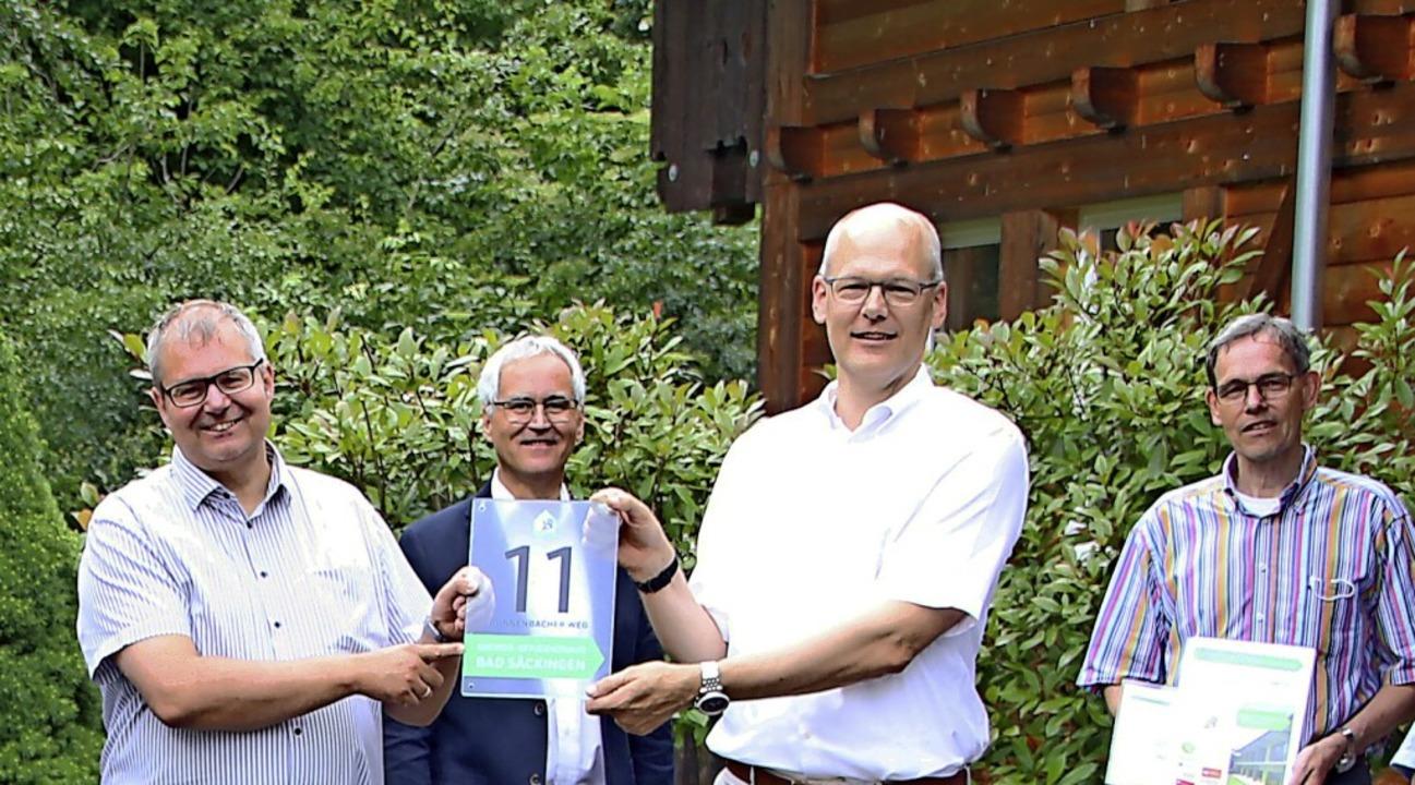 Bürgermeister Alexander Guhl (von link... Brand und Umweltreferent Ralf Däubler    Foto: Susanne Eschbach