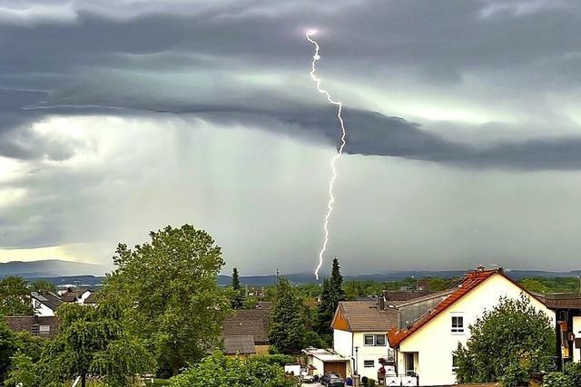 Gewitter über Efringen-Kirchen