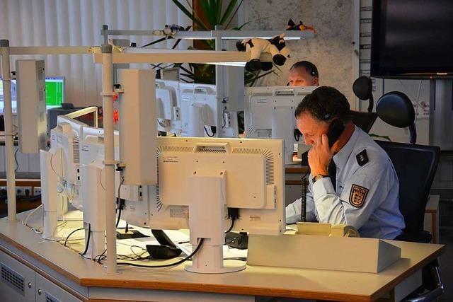 In der Einsatzzentrale der Offenburger Polizei sind gute Nerven gefragt