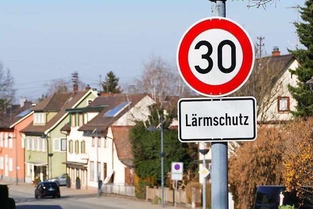 In Eimeldingen gilt auf der B3-Ortsdurchfahrt Tempo 30