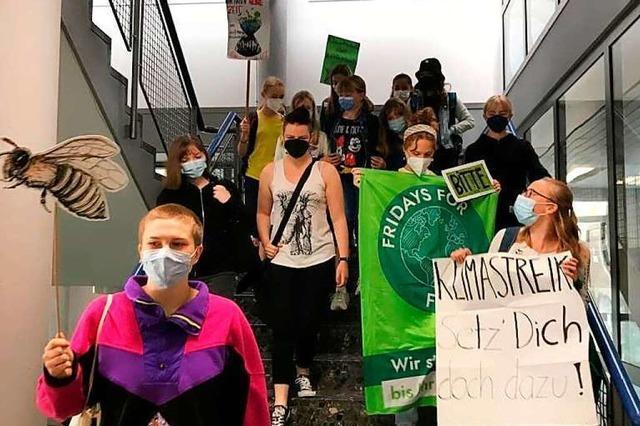 Spontaner Klima-Streik am Kant-Gymnasium in Weil am Rhein