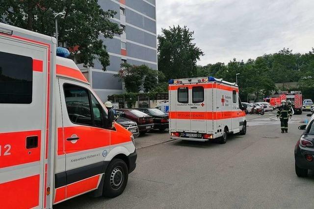Wohnungsbrand in Freiburg-Landwasser geht glimpflich aus