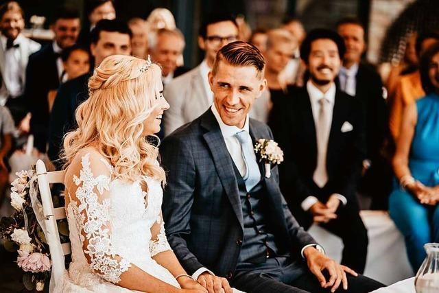 Nils Petersen feiert Hochzeit auf dem Kandel bei Waldkirch