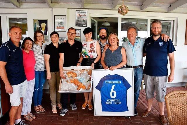 FV Degerfelden empfängt alte und neue Pächter im Vereinsheim
