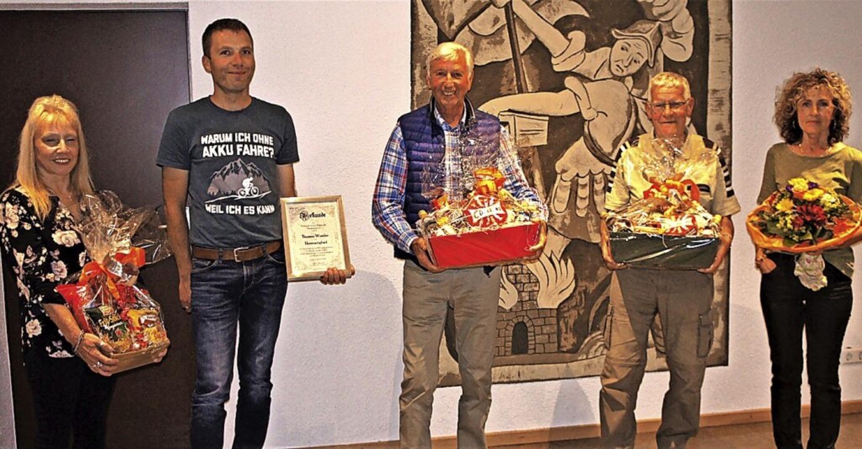 Beim Radsportverein Niederhof wurden  ...Heinz Vogt und Julia Zumkeller-Heitz.     Foto: Reinhard Herbrig
