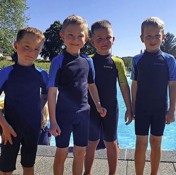 Nachdem der Schwimmkurs 2020 wegen der...er Freibad mit der Sonne um die Wette.    Foto: Olheide, Monika