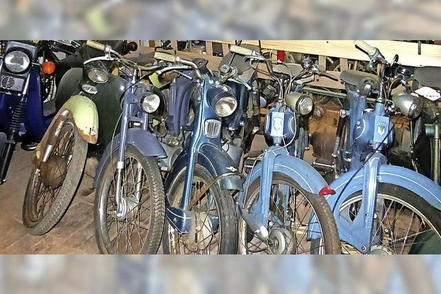 Alte Mopeds und Technik