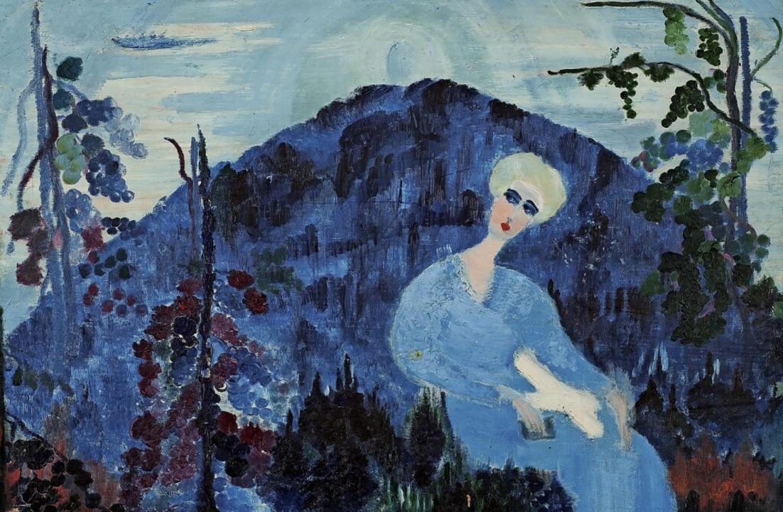 Links: Wie viele ihrer Werke hat Else ...ankenhorn als junge Frau porträtiert.   | Foto: Uniklinik Heidelberg - Sammlung Prinzohrn