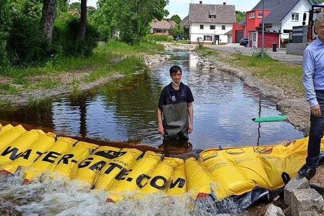 Hochwasserschutzsystem für die Wehr