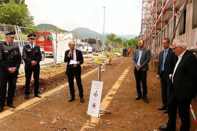 Grundsteinlegung am Rettungszentrum in Elzach