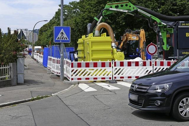 Baustelle in Hardtstraße noch bis Anfang August
