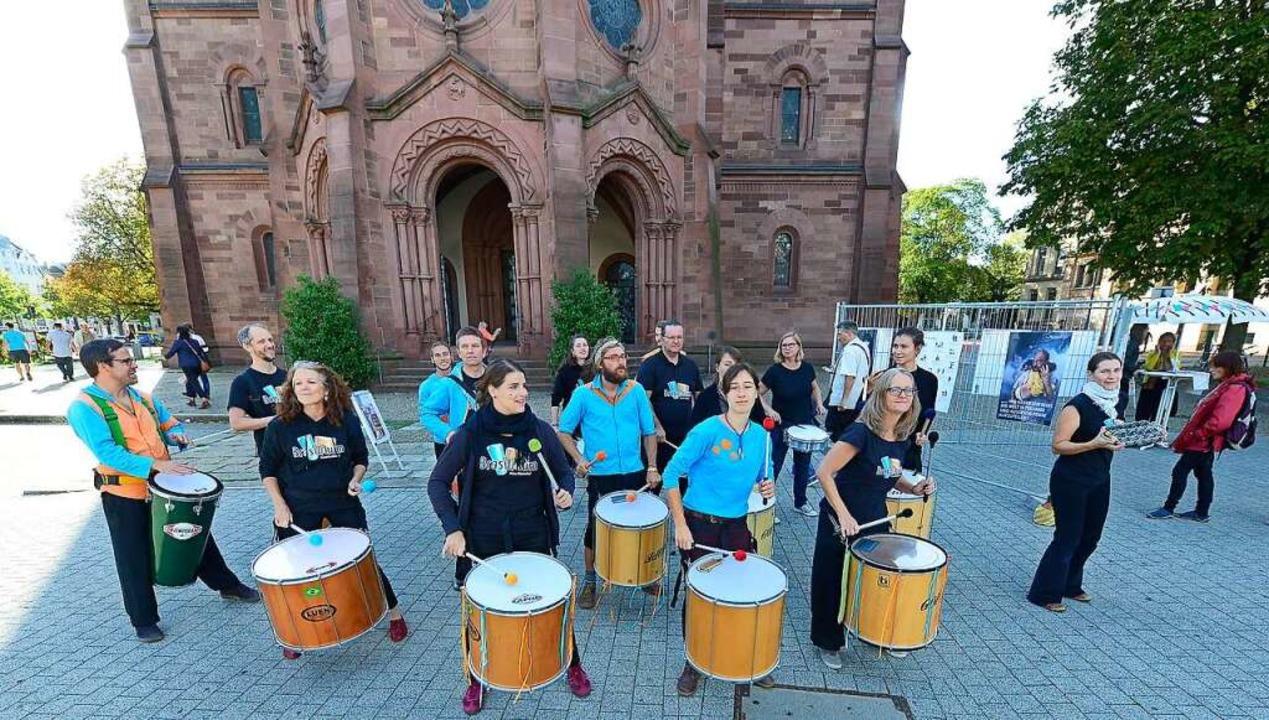 Das Freiburger Percussion-Ensemble Bra...t in Freiburg, lange vor der Pandemie.  | Foto: Ingo Schneider