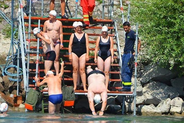 Kein Zweibrückenschwimmen mehr am Hochrhein