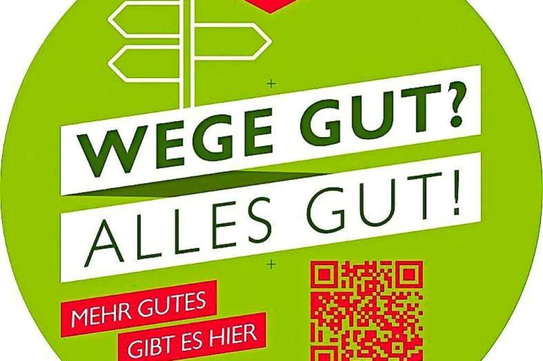 Die neuen Schilder mit QR-Code  | Foto: Schwarzwaldverein