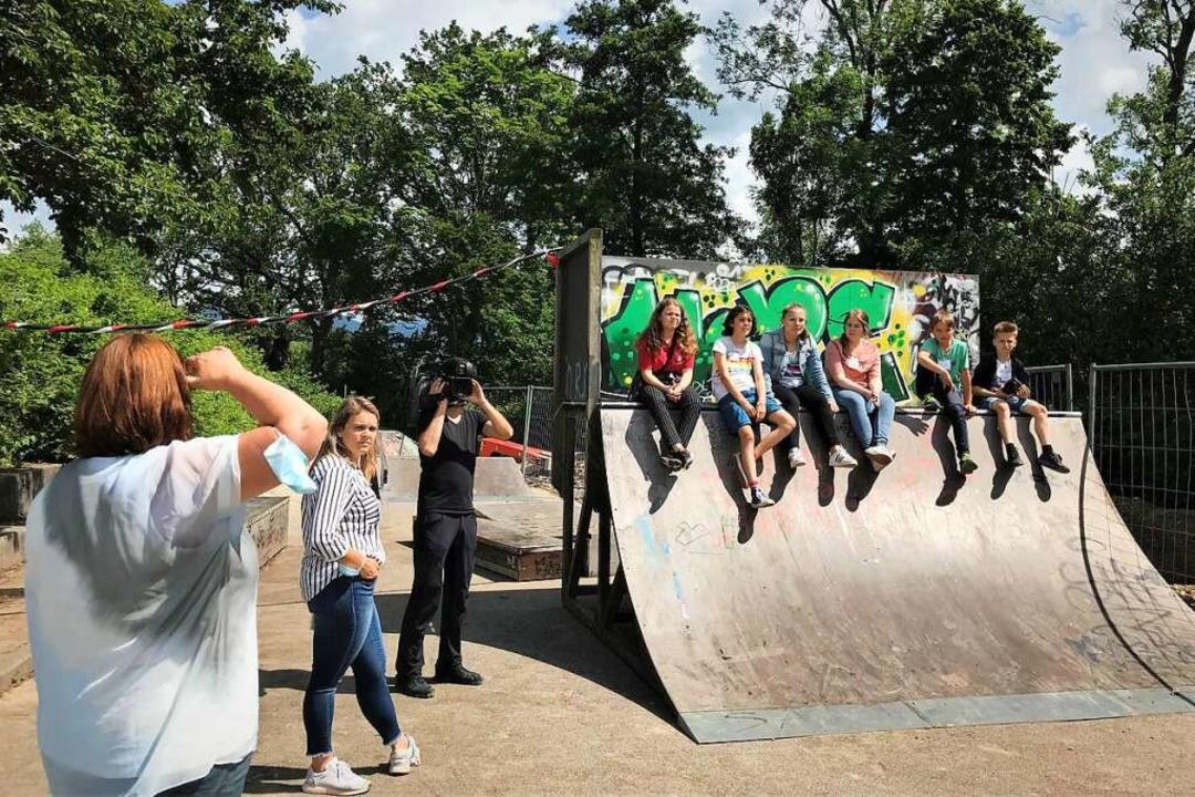 Im Film festgehalten wurde jetzt die M...ndlichen zum Beispiel  zur Skaterbahn.    Foto: Michael Dörfler