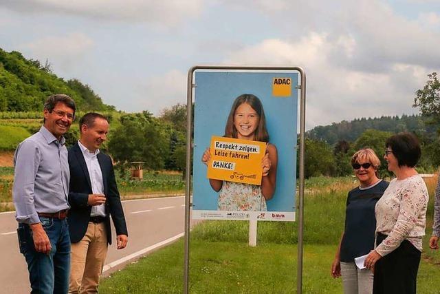 Hinweisschilder sollen Motorradfahrer in Ettenheim sensibilisieren