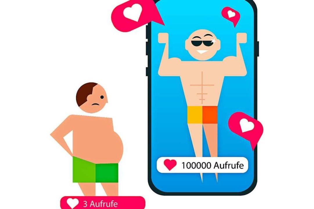 Positive Rückmeldungen in Form von Lik...den Drang, nur schöne Dinge zu teilen.    Foto: dpa-infografik GmbH