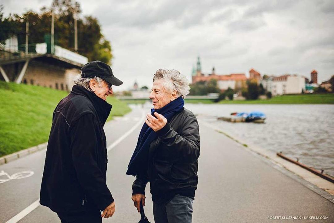 Filmregisseur Roman Polanski (rechts) und der Fotograf Ryszard Horowitz  | Foto: Robert Sluszniakwww.spheresis.c