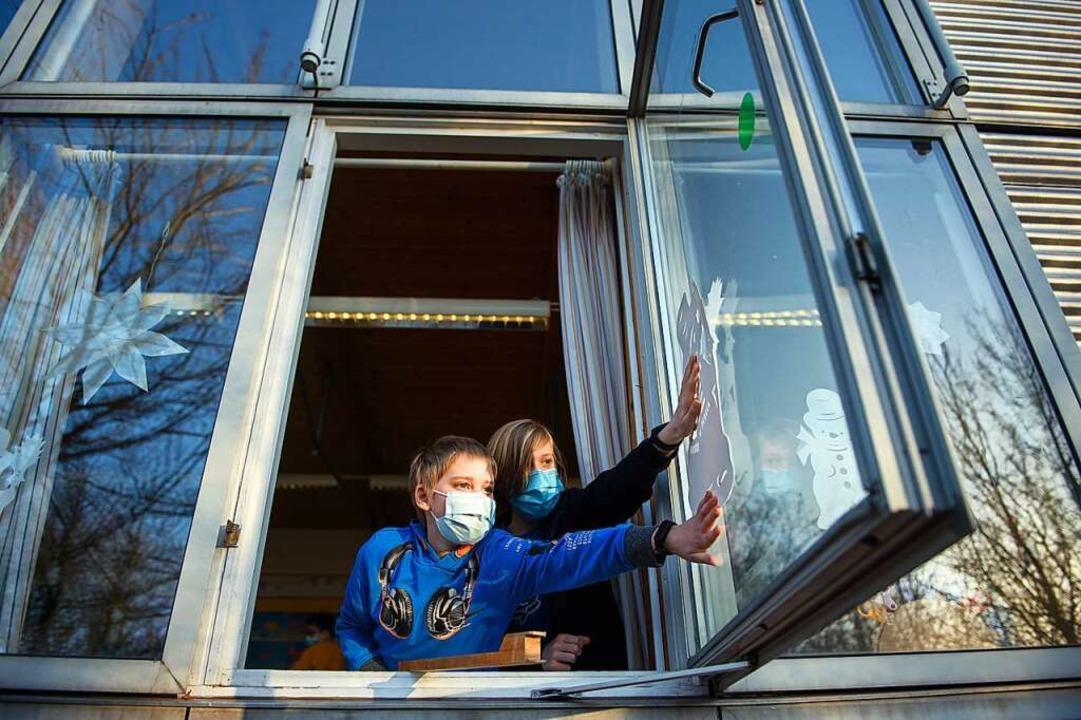 Lüftungsanlagen  für Klassenzimmer sin...und eingebaut  werden. Die Zeit läuft.    Foto: Gregor Fischer