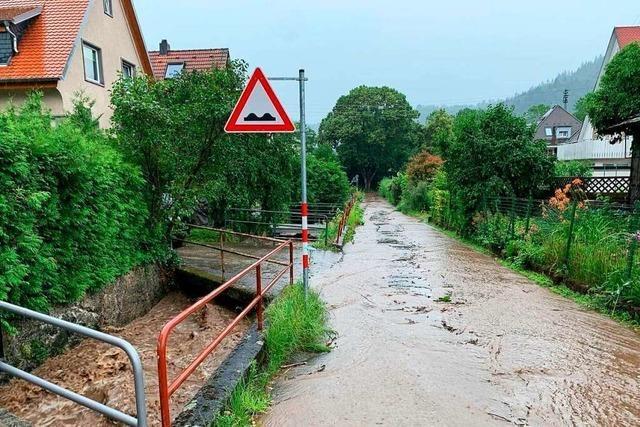 Wegen eines Unwetters im Waldkircher Stadtgebiet rückte die Freiwillige Feuerwehr mehrere Male aus