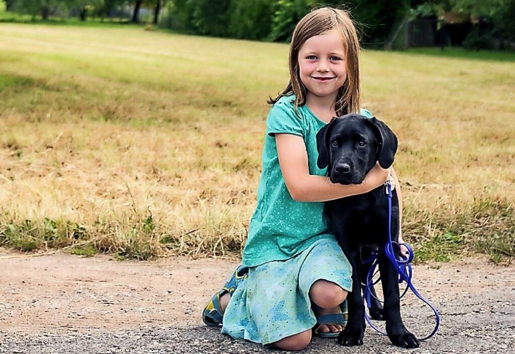 Nele Frommherz hatte eine tolle Zeit mit Patenhund Wanyo.     Foto: Privat
