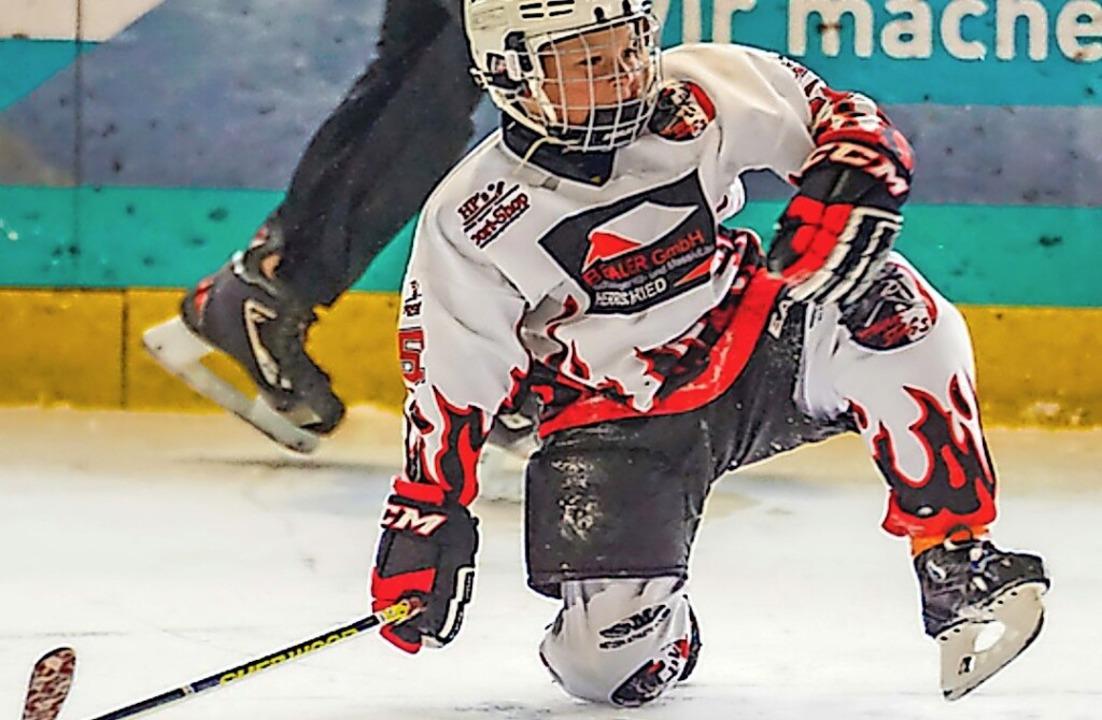 Richard Griener auf dem Eis  | Foto: Privat