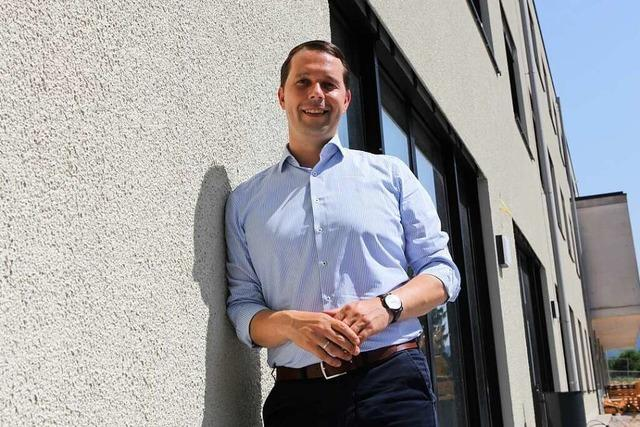 Rundgang mit Kandidat Marco Gutmann