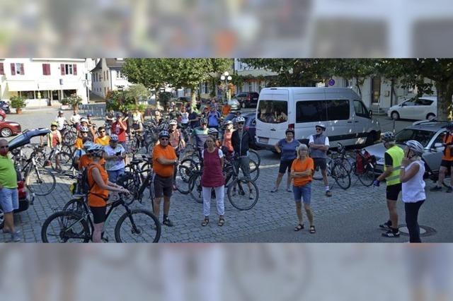 Eine Radtour zum Auftakt