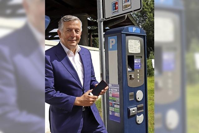 Parkgroschen bezahlt eine Handy-App