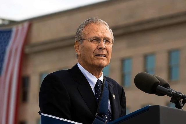 Ex-US-Verteidigungsminister Donald Rumsfeld ist tot